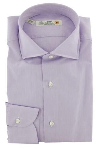 $600 Luigi Borrelli Lavender Purple Dress Shirt Extra Slim 8P