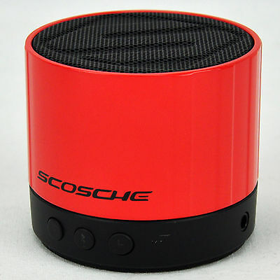 Scosche BoomSTREAM Mini Wireless Bluetooth Speaker with 3.5mm AUX input - RED