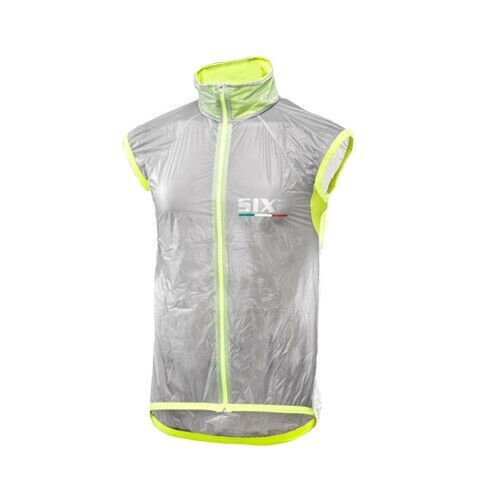 Gilet antivento bicicletta Ciclismo Bici SIXS 100%  GItuttiO FLUO GHOST GILET