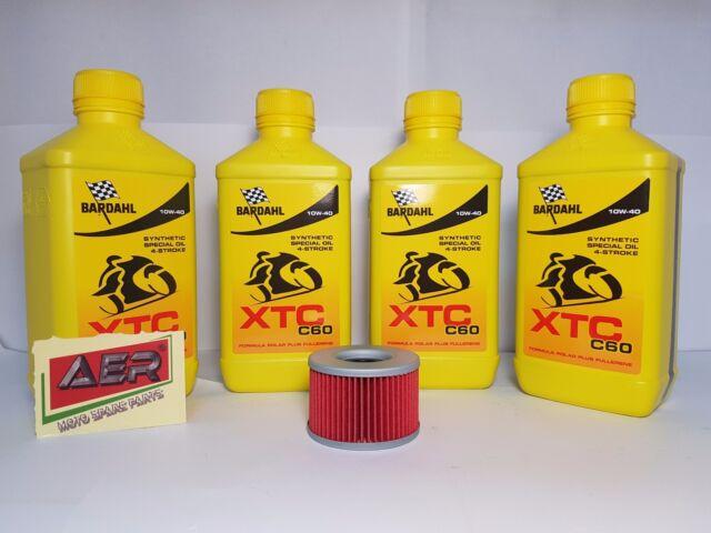 Kit de Mantenimiento Aceite Motor Bardahl XTC C60 10W40 Bimota SB2 750 1980-1980