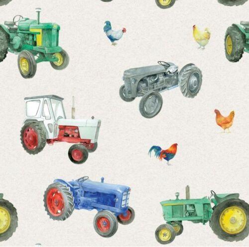Vintage Tractor envolver Hojas de papel y etiquetas-Arty Pingüino Calidad Nueva