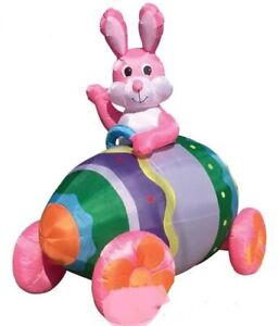 EASTER BUNNY EGG  CAR AIRBLOWN INFLATABLE YARD DECORATION  7 FT