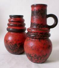 "60s 70s Scheurich Keramik 2 x Vase ""Wien"" ceramic west german fat lava pottery"