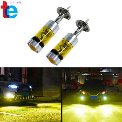 MagiDeal 2 Pieces H1 20LED 100W Yellow Projector Fog Driving Light /& H1 3014 24SMD
