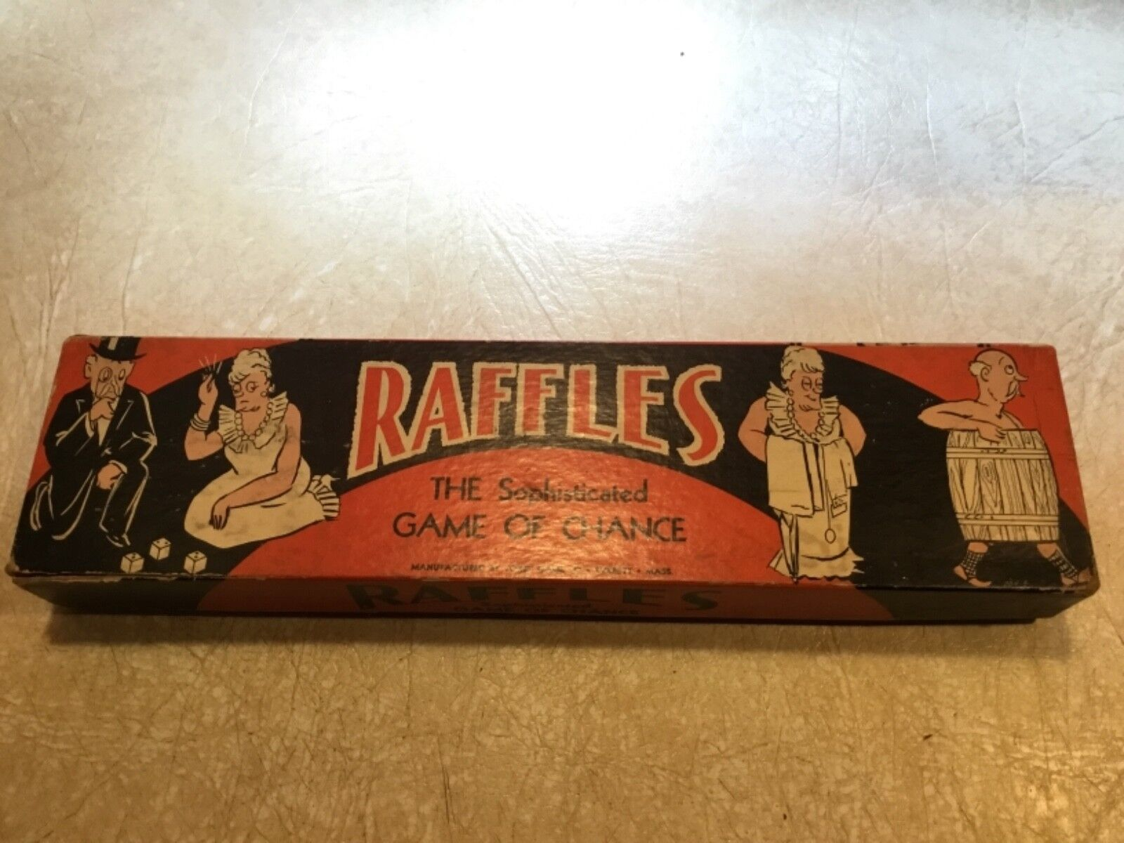 RARE 1 OF KIND 1930  RAFFLES THE SOPHISTICATED GAME OF CHANCE COMPANY 1ST GAME