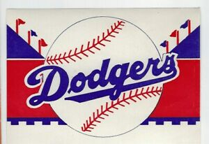 Circa-1950-039-s-Brooklyn-Dodgers-Sticker-Decal-3-25x4-75