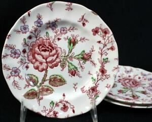Johnson Brothers ROSE CHINTZ 3 Bread & Butter Plates GREAT CONDITION