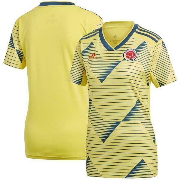 adidas Colombia National Team Yellow 2019 Home Replica Jersey ...