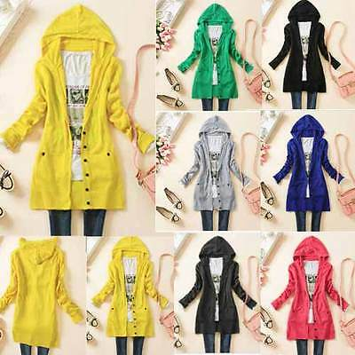 NEW Ladies Women Long Sleeve Knit Open Front Cardigan Top Jacket Jumper Jacket