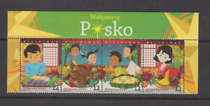 Philippine-Stamps-2018-Christmas-Complete-set-with-label-MNH