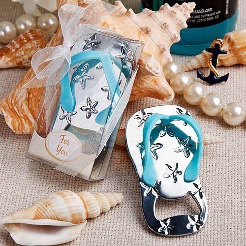 25 plage Flip Flop ouvre-bouteilles Coffret Robe de Mariage Baby Shower Party Favors