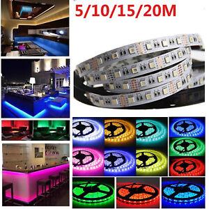 12V 24V 5//10//30M 5050SMD RGBW RGB+Warmweiß LED Streifen Strip Band Lichtleiste