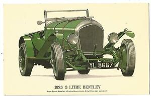 Postcard-1925-3-Litre-Bentley-c1960s