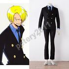 Custom-made One Piece Sanji Black Uniform Cosplay Costume New Halloween