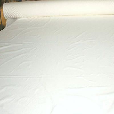creme weiß Segeltuch 180cm breit wasserdicht leicht Nylon-Stoff Meterware Tolko