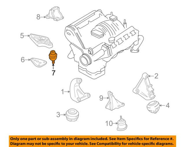 OEM Audi Allroad A6 Quattro 2000-2005 Engine Motor Mount 4B0-199-379-AB