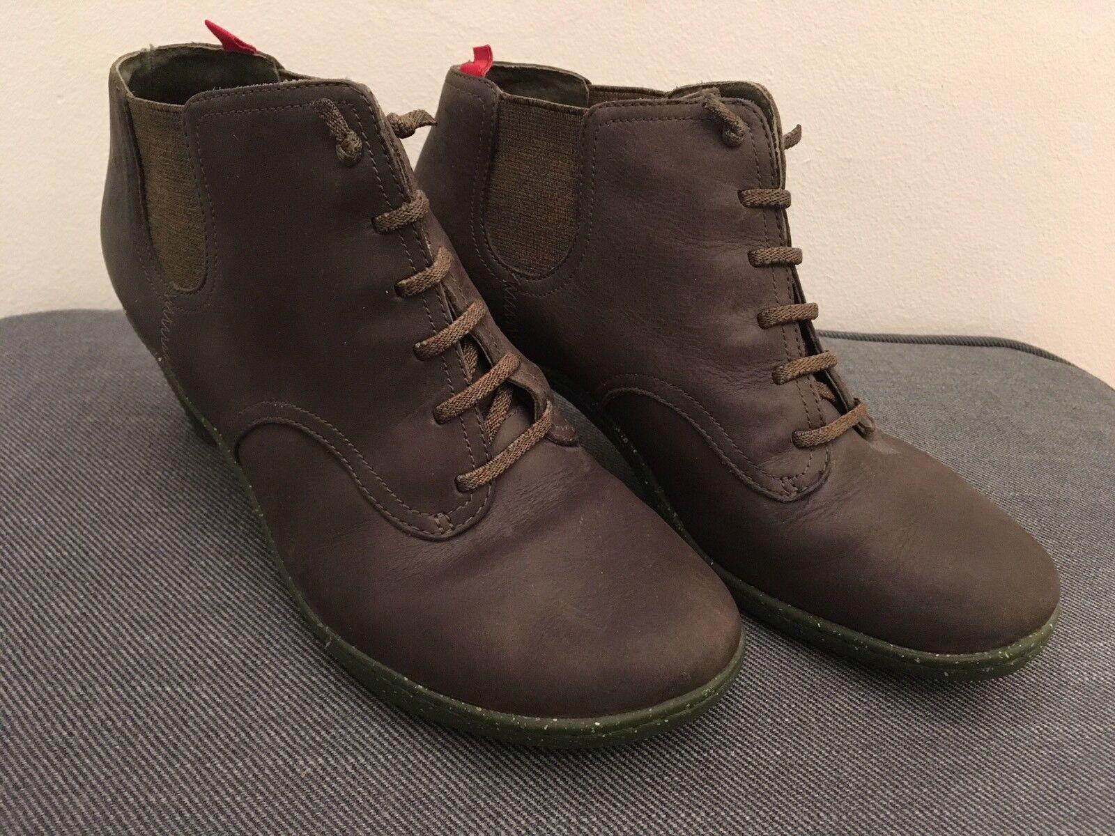 Camper High-Heels, Olivgrün, Größe 38  | Am praktischsten