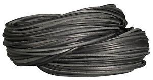 6 Lederriemen Rind rund 2mm schwarz