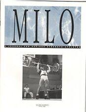 Milo Bodybuilding Strongman Weightlifting Magazine Tommy Kono 4-96 vol 4 #1