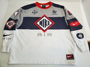 Rare-Nike-Air-Blue-Ribbon-Sports-BRS-Sweatshirt-Mens-XL-White-Blue