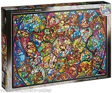 Disney Figures Stained Glass Art Jigsaw Puzzle 1000 Piece Fine Art Jigsaw Puzzle