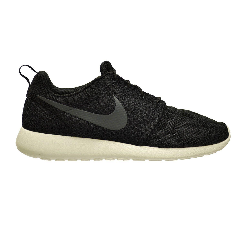 12bc1c863303 NIKE Roshe Run One Men s Shoes Black Anthracite-Sail 511881-010 (9 D ...