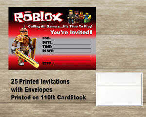 Image Is Loading Roblox Fill In Birthday Invitations Cards 25