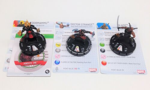 Heroclix Monthly OP Kit Mysticals COMPLETE lot of 3 LE figures w/cards!
