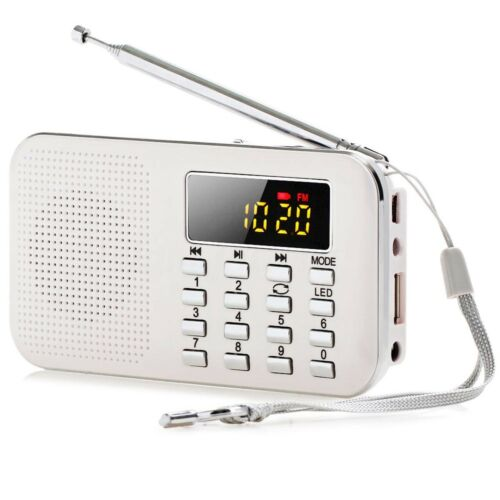 Digital FM AM Radio World Band Supper Bass Mini-Lautsprecher AUX USB TF LED