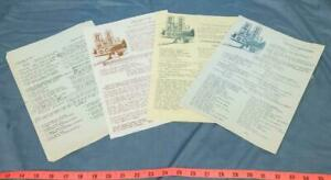 Vintage-Lot-of-French-Notre-Dame-Cathedral-Mass-Brochures-dq