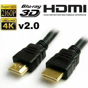 PREMIUM HDMI Cable V2.0 High Speed 4K UltraHD 2160p 3D  Lead 1M 2M 3M 10M #2