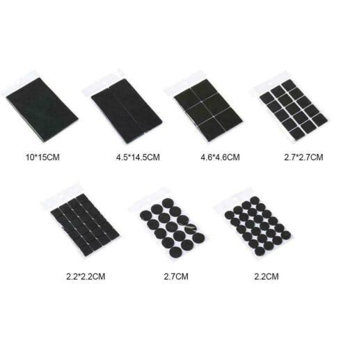 Soft Rubber Self Adhesive Furniture Leg Non Slip Rug Felt Pads Slip New E6G2