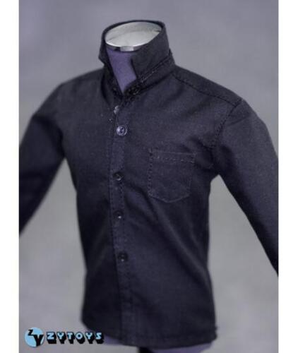 "1//6 Black Long Sleeves Shirt Blue Jeans Set For 12/"" Hot Toys Male Figure U.S.A."