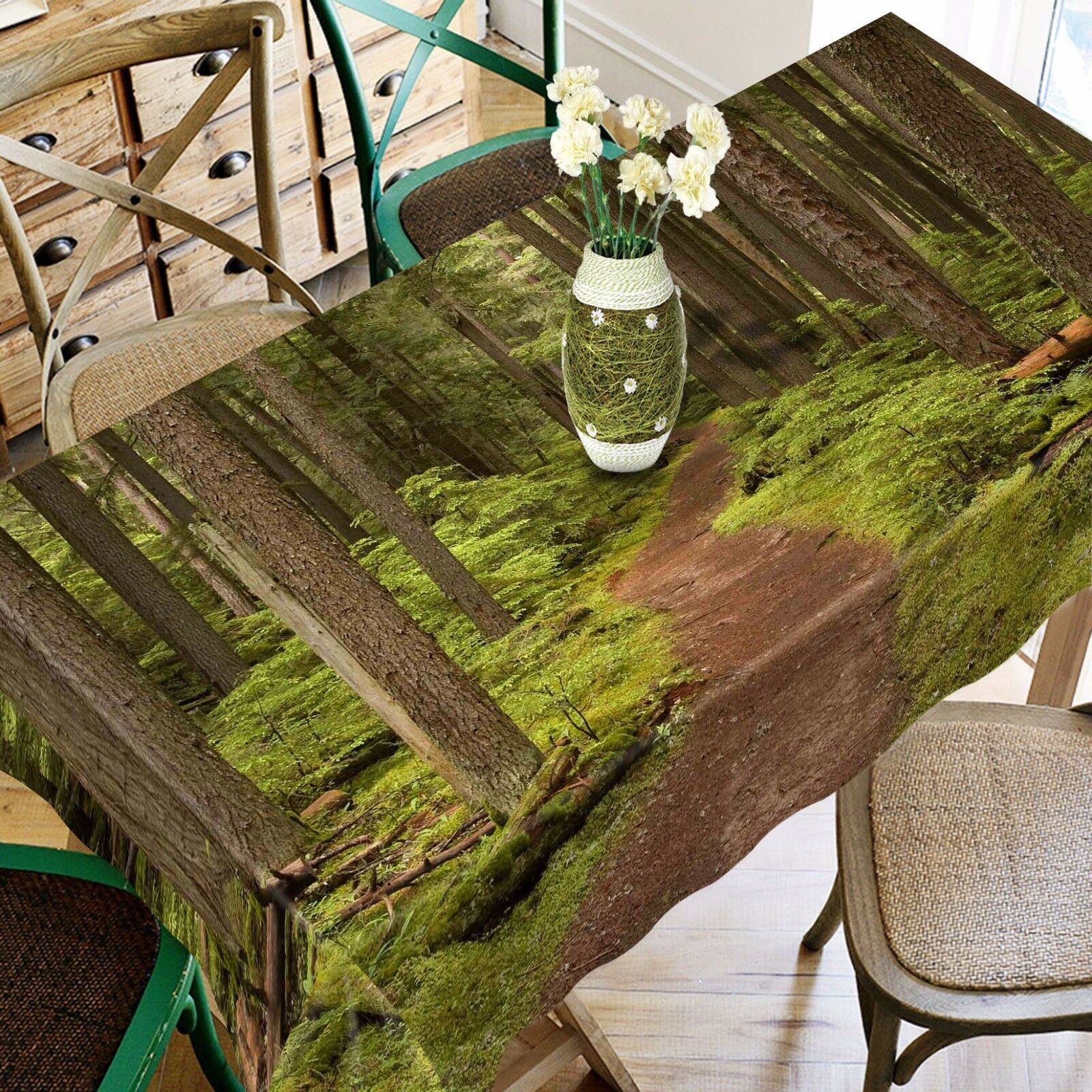 3D Forest Path 12 Tablecloth Table Cover Cloth Birthday Party Event AJ WALLPAPER