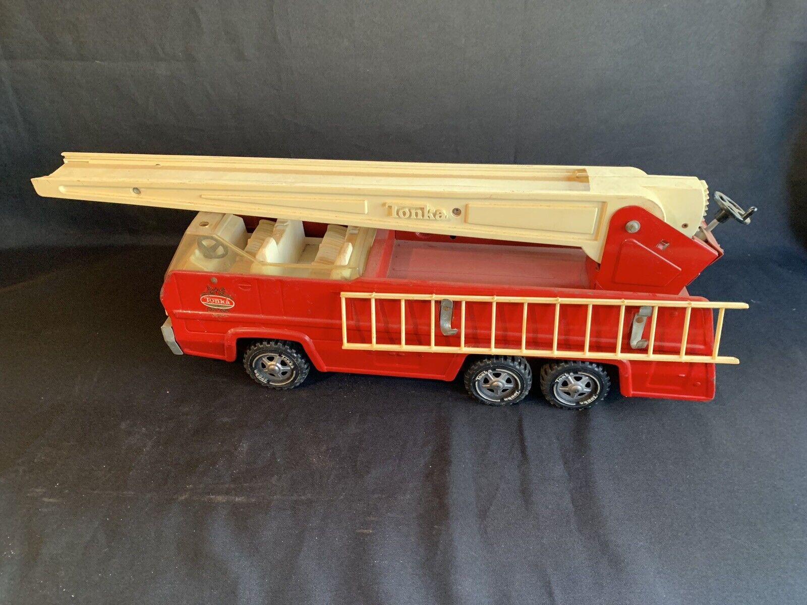 Juguete Vintage Metal Grande 13200 Camión Bomberos Bomberos Bomberos Dept MOTOR LADDER Tonka  autentico en linea