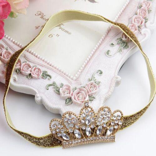 Tiara Crystal Girl Rhinestone Hairband Crown Zone Baby Hair Band Baby Headwear