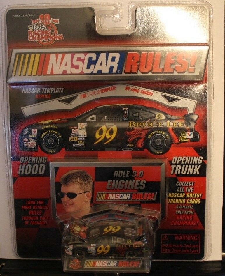 Racing Champions NASCAR Rules Jeff Burton - Bruce Lee '99 Ford Taurus