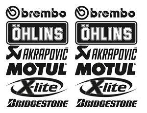 Brembo Öhlins Akrapovic Motorsport Sponsoren Aufkleber Racing Set Motorrad Auto - <span itemprop='availableAtOrFrom'>Hamburg, Deutschland</span> - Brembo Öhlins Akrapovic Motorsport Sponsoren Aufkleber Racing Set Motorrad Auto - Hamburg, Deutschland