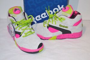 New Reebok Court Victory Pump X Extra Butter Grey Pink Green Black ... efee52ca04bd