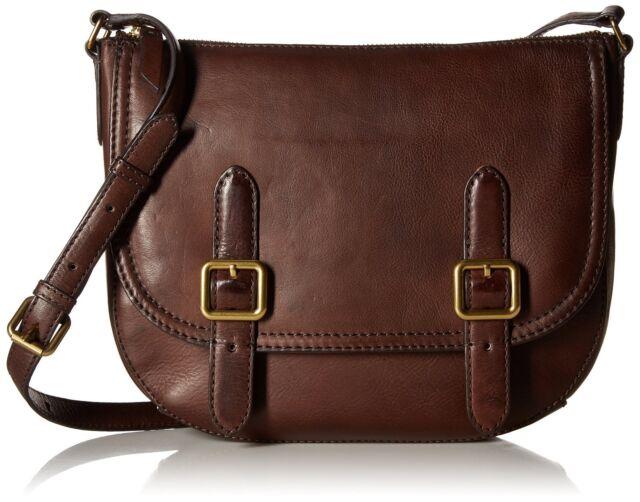 Frye Claude Crossbody Handbag Db271 Chocolate Distressed Leather