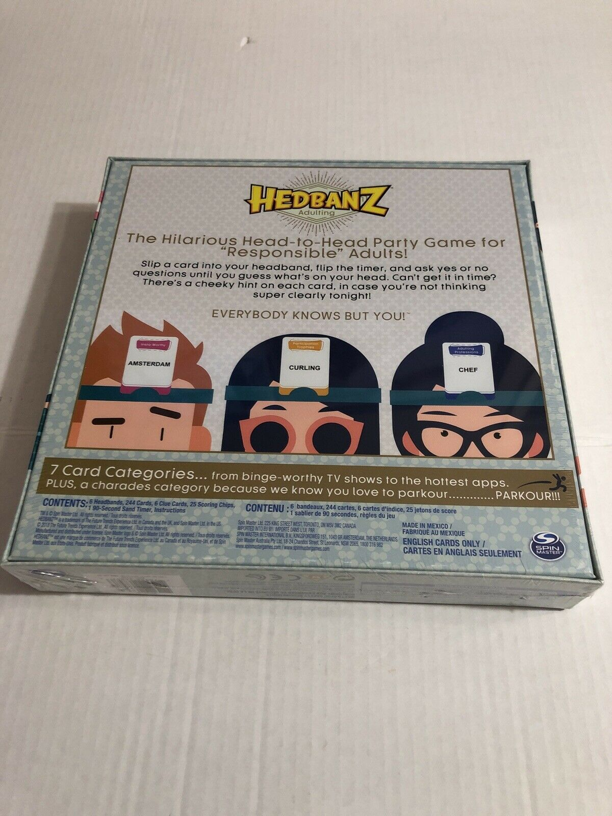 Hedbanz Adulting Spin Master Guessing Game 6053120
