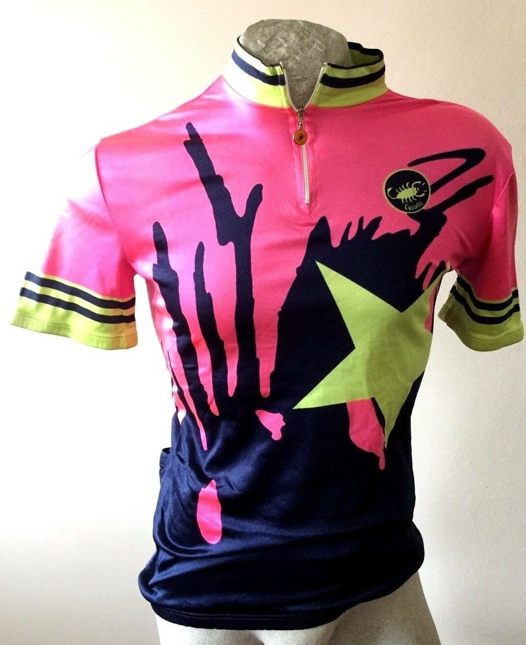 MAGLIA CICLISMO CASTELLI SHIRT CYCLING TRIKOT JERSEY VINTAGE MADE ITALY IN ITALY MADE tg M e7c858