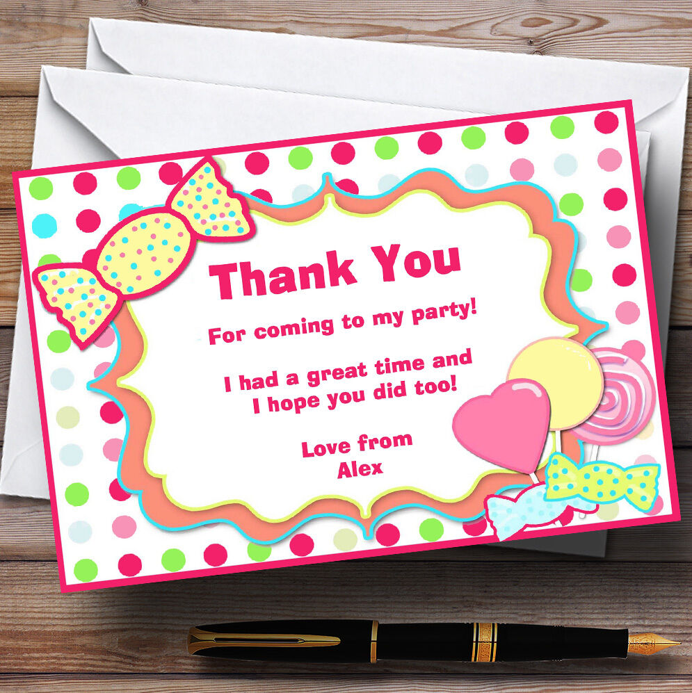 Sweety You Tree Personalised Birthday Party Thank Cards 9beb44