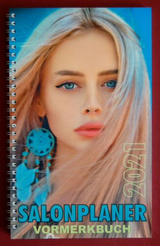 Salonplaner 2021 Vormerkbuch Friseur,Terminbuch,Kosmetik Terminplaner,Nails,NEU