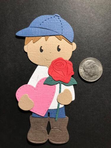 1 Valentine Boy Premade PAPER Die Cuts Scrapbook /& Card Making