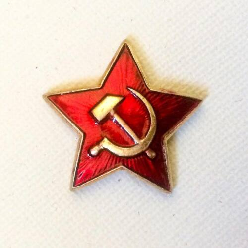 Hammer and Sickle Red Army  Star Cap Hat Badge Pin 2.2 x2.2cm Vintage