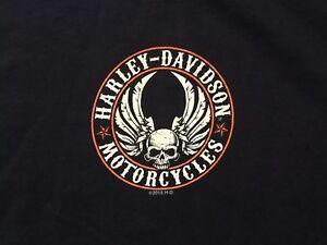 Harley-Davidson-Flying-Skull-black-Shirt-Nwt-Men-039-s-Large