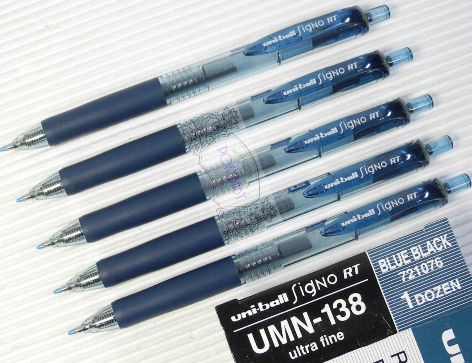 Uni-ball Signo RT0.38mm retractable gel pen UMN-138 Lavender Black x 5 pcs