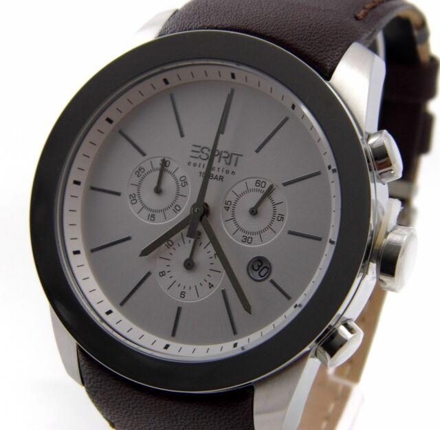 Esprit Collection EL900151004 Uhr Belos Chronograph Edelstahl Leder UVP*169,00 €