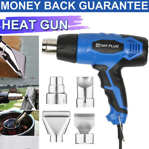 Heat Gun Hot Air Gun Dual Temperature 4 Nozzles Power Tool 2000W Paint Stripper